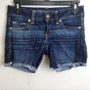 American Eagle Dark Wash Stretch Shorts